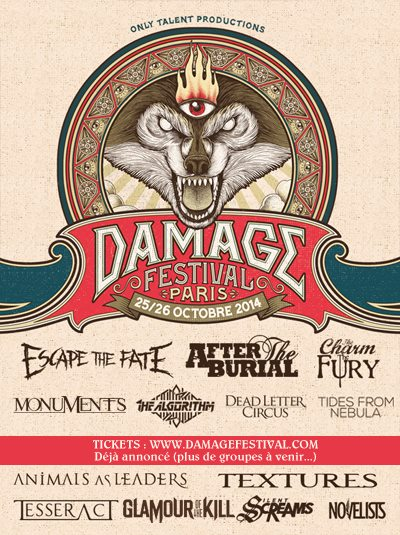 Damage Festival 2014 | 25 et 26 octobre @ Cabaret Sauvage - Parc de la Villette | Paris | Île-de-France | France