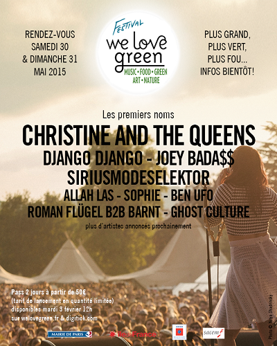 We Love Green 2015 : les premiers noms @ Le Parc de Bagatelle | Paris | Île-de-France | France