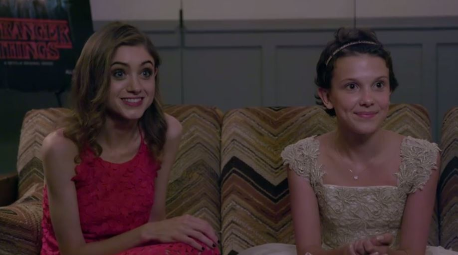 Natalia Dyer et Millie Brown - Stranger Things